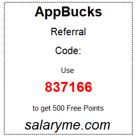 Appbucks referral code: 837166
